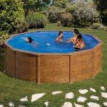 Piscina desmontable Pacific circular imitación madera